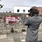 'Cofiwch Dryweryn' mural, Grangetown,...