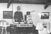 Mr J. R. Parkington demonstrating electrical...