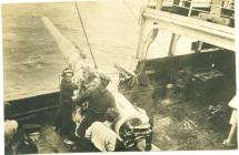 Gwn ar HMS MANTUA (c.1917)