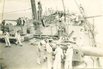 Gynnau ar HMS MANTUA (c.1917)