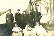 Wounded survivors of the QUILLOTA (1917)
