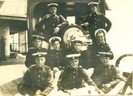Gynwyr yr HMS MANTUA (c.1918)