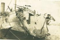 HMS MOTAGUA after accident at sea (1918)