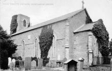Holy Trinity Church, Newcastle Emlyn before it...