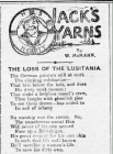 JACK'S YARNS: THE LOSS OF THE LUSITANIA (1915)