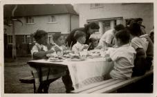 VE Day Party in Powys Place
