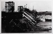 SS Walkure Capsized in Barry Dock