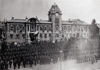 American Troops in Kings Square, Barry in 1918