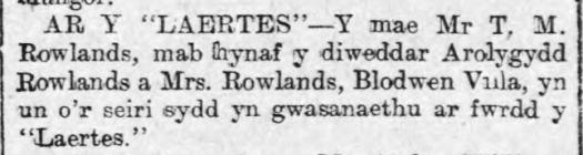"""AR Y """"LAERTES"""" (1915)"""