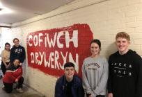 'Cofiwch Dryweryn' mural, Ysgol Gyfun...