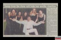 "Newspaper clipping of an article, ""Songs from..."