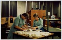 Workers at Laura Ashley factory, Carno, 1987