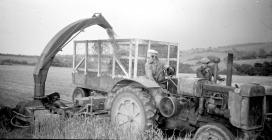 34 Oliver tractor & Silorator, 1953