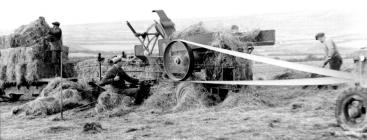 23 Baling hay from a stack, 1952