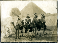 Nurse Hughes and friends at Giza