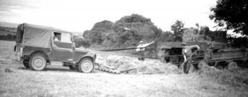 25 Sweeping hay to Baler 1951