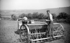 6 Oliver tractor and drill, Carmarthenshire