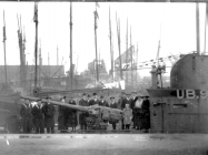The UB 91 at Newport in January 1919