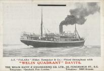 S.S. 'FALABA' (Elder, Dempster & Co.) - Fitted...