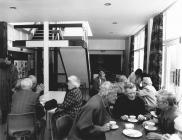 Pensioners Club in old coffee bar, Community...