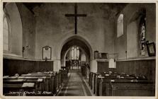Interior of St. Athan Church
