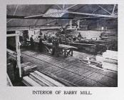Interior of Barry Mill.