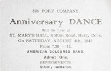 596 Port Company Anniversary Dance Invitation