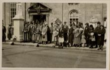 Cowbridge Dignitaries on Armistice Day 1936.