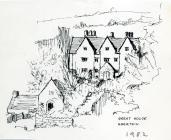 Great House, Aberthin, 1982 sketch by Jeff Alden