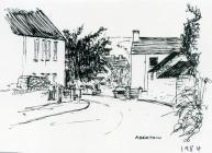 Aberthin village, 1984 sketch