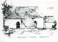 Methodist Chapel, Aberthin, 1987 sketch