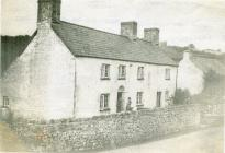 Brewery Cottage, Aberthin 1945, with Mrs Radcliffe