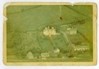Great House and Court Farm, Aberthin, aerial view