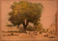 Aberthin village centre & tree ca 1900
