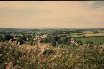 Aberthin village from Stalling Down 1999