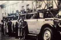 Charabanc outing 1930s from ? Aberthin chapel