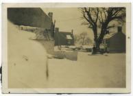 Aberthin centre in snow ? 1947