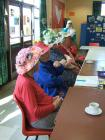 Easter bonnets at Tuesday Lunch Club