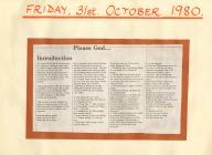 Deunydd grŵp tŷ, 1980au 'Dysgwch sut i weddïo'