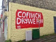 'Cofiwch Dryweryn' graffiti, Bridgend