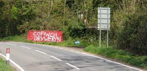 'Cofiwch Dryweryn' graffiti, Talley