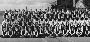Llandysul County School Staff and Students,...