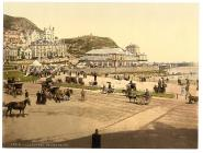 On the beach, Llandudno, Wales, c.1890