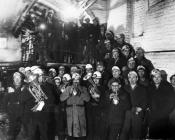 Christmas underground, Bersham Colliery,...