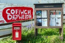 'Cofiwch Dryweryn' mural, Llangrannog...