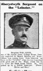 "Aberystwyth Sergeant on the ""Leinster""..."