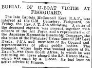 BURIAL OF U-BOAT VICTIM AT FISHGUARD (1918)