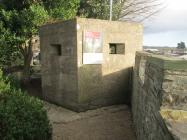 "The 1940 ""Pill-box"" gun emplacement..."