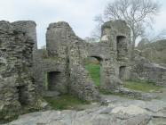 The gatehouse of Newcastle Emlyn Castle