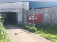 'Cofiwch Dryweryn' mural, Old...